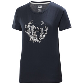 Helly Hansen Skog Graphic T-Shirt Femme, navy